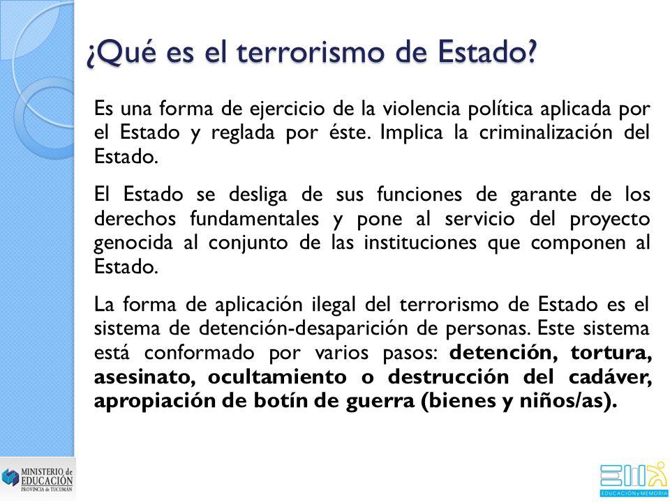 ¿Qué es el terrorismo de Estado.