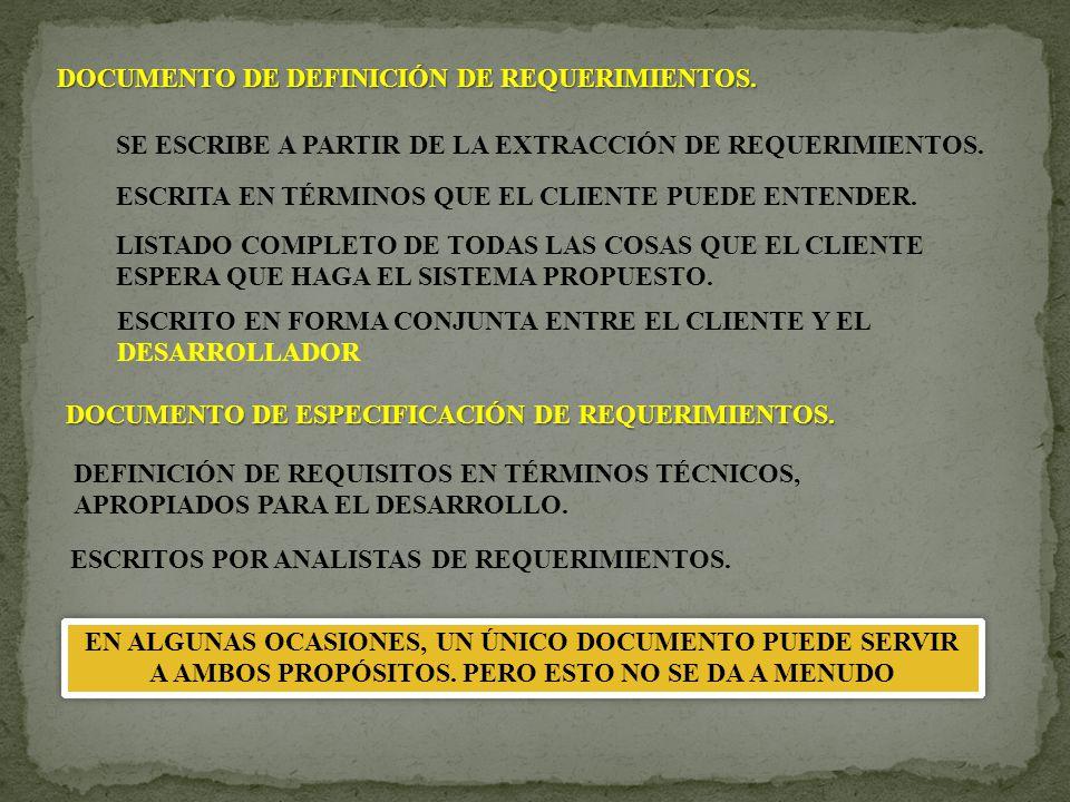 e.ESTABLECER LA DIFERENCIA ENTRE REQUERIMIENTOS FUNCIONALES Y NO FUNCIONALES e.