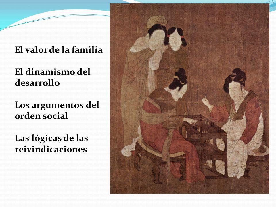 El valor de la familia El dinamismo del desarrollo Los argumentos del orden social Las lógicas de las reivindicaciones