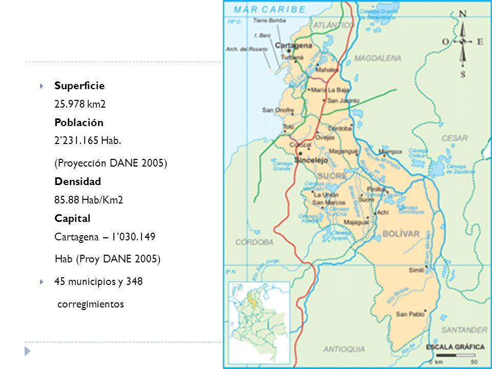 Superficie 25.978 km2 Población 2231.165 Hab.