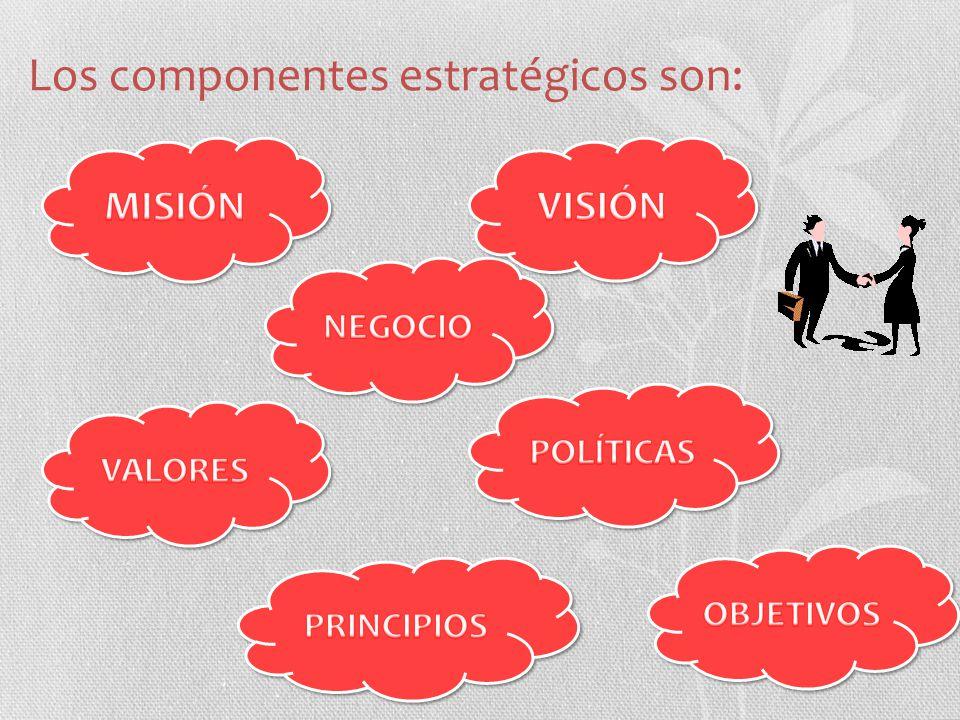 Los componentes estratégicos son: