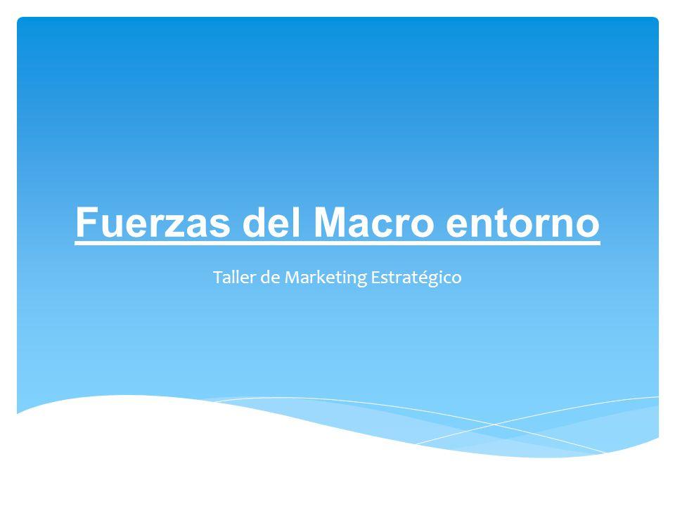 Fuerzas del Macro entorno Taller de Marketing Estratégico