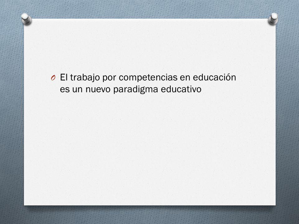 O El trabajo por competencias en educación es un nuevo paradigma educativo