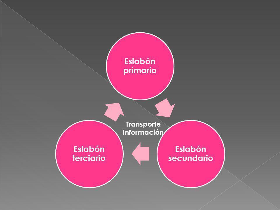 Eslabón primario Eslabón secundario Eslabón terciario Transporte Información