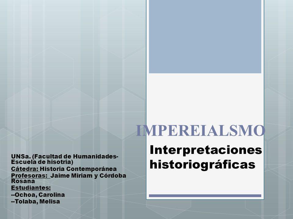 Concepto «Imperialismo» Término reciente (desde 1870) Carácter Polisémico Período: fines del siglo XIX y comienzos del XX Asociado al término «Imperio»