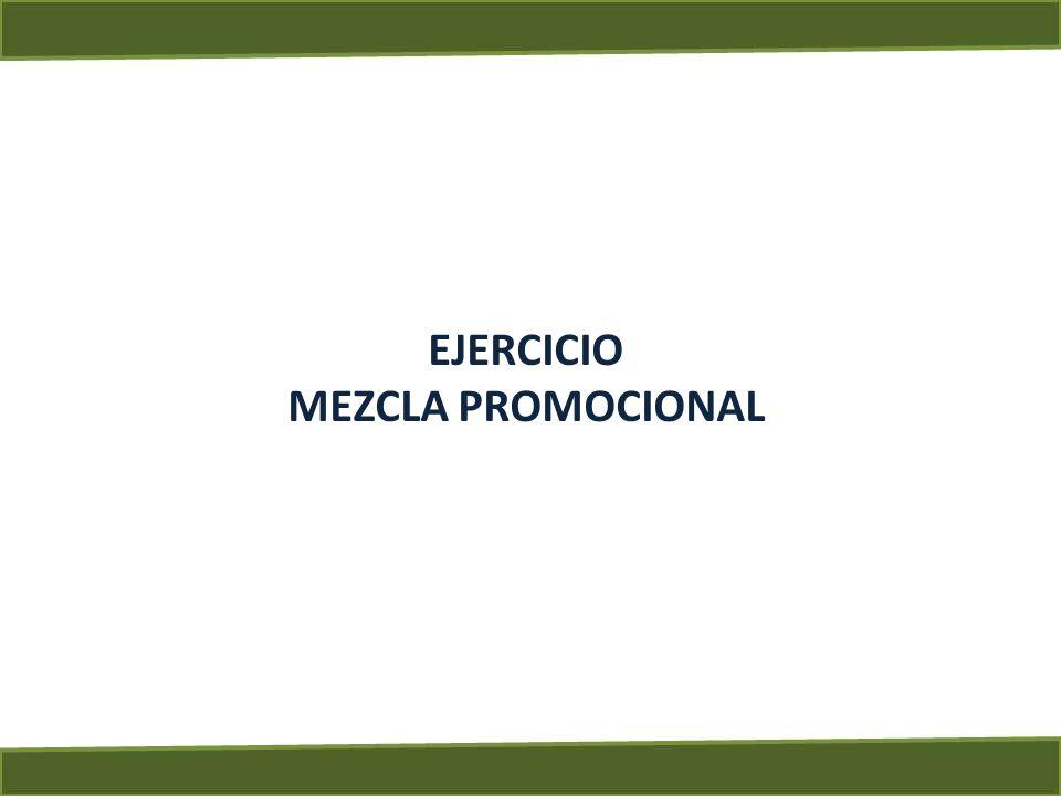 EJERCICIO MEZCLA PROMOCIONAL