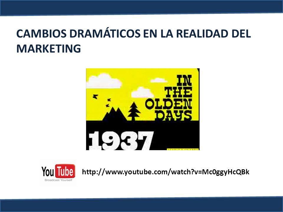CAMBIOS DRAMÁTICOS EN LA REALIDAD DEL MARKETING http://www.youtube.com/watch?v=Mc0ggyHcQBk