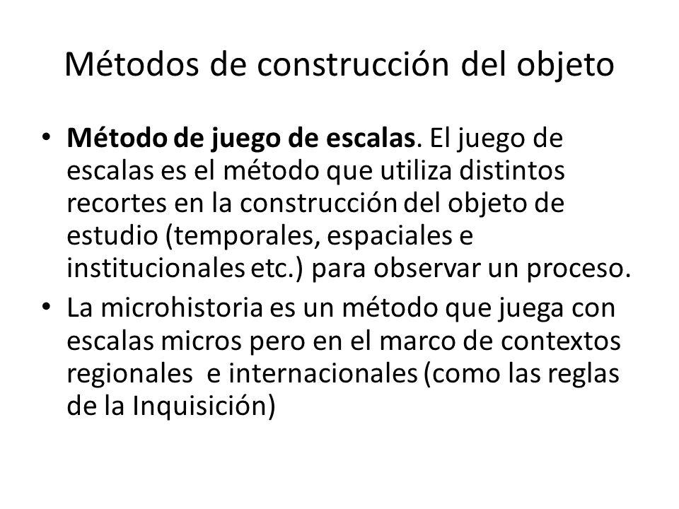 Métodos de construcción del objeto Método de juego de escalas.