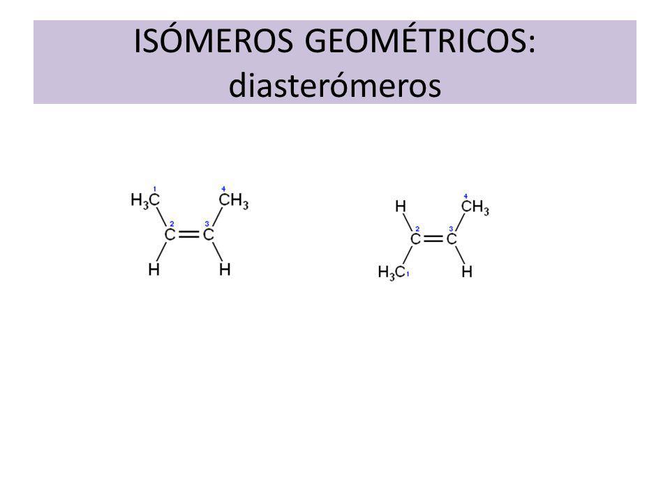 ISÓMEROS GEOMÉTRICOS: diasterómeros