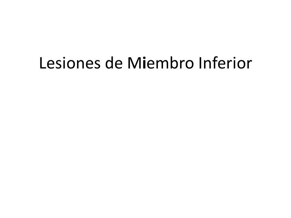 Tobillo: