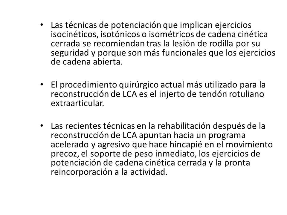 Las lesiones de LCP, LLI, LLE se tratan por regla general sin recurrir a la cirugía.