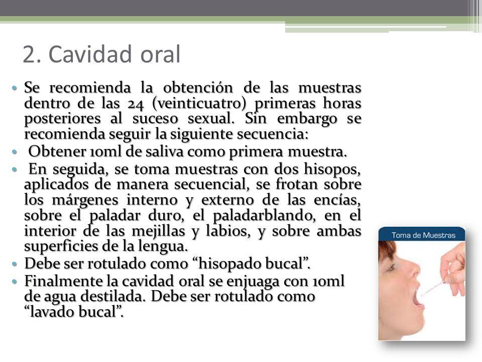 1. Genitales Femeninos Se introduce un espéculo vaginal apropiado en los dos tercios inferiores de la vagina, se abre el espéculo y con dos hisopos se