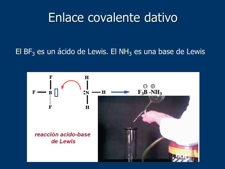 El BF 3 es un ácido de Lewis. El NH 3 es una base de Lewis