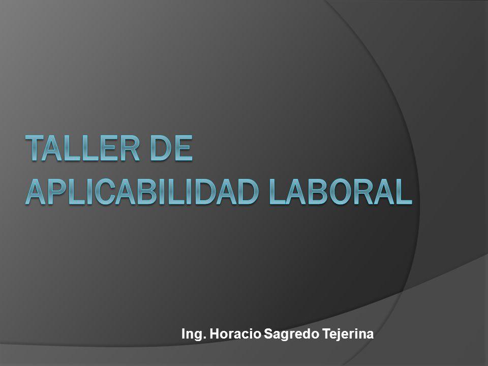 Ing. Horacio Sagredo Tejerina