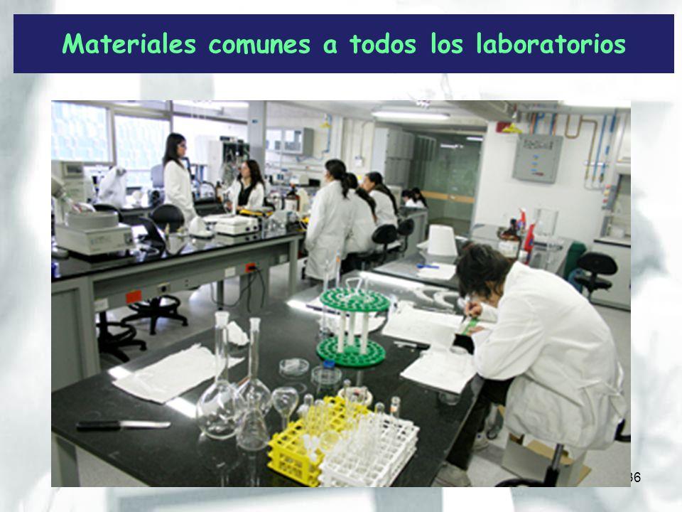 Materiales comunes a todos los laboratorios 36