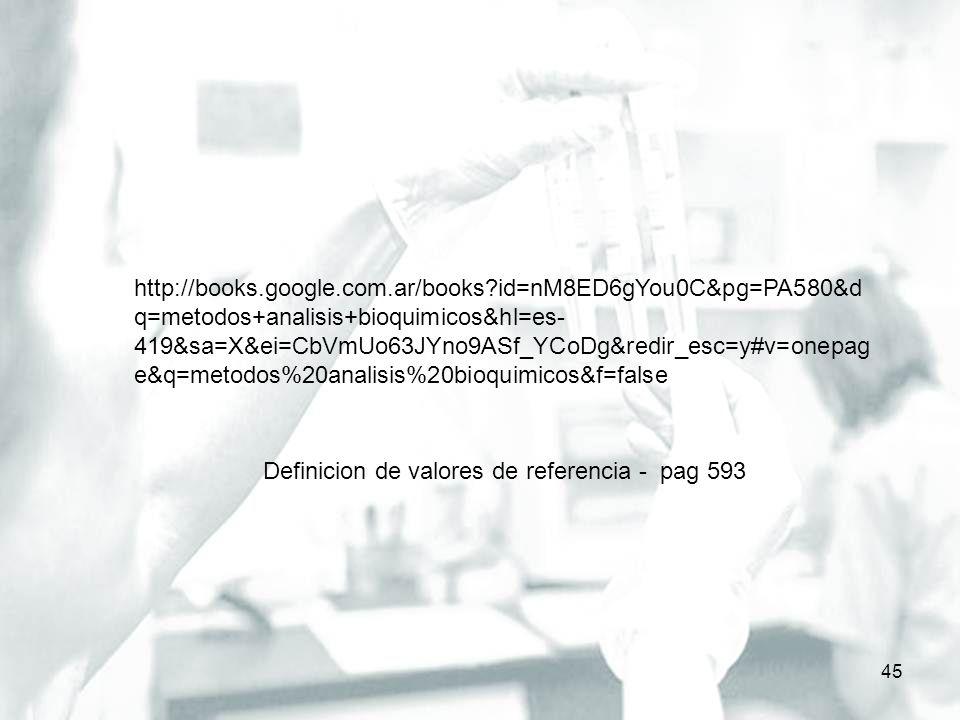 45 http://books.google.com.ar/books?id=nM8ED6gYou0C&pg=PA580&d q=metodos+analisis+bioquimicos&hl=es- 419&sa=X&ei=CbVmUo63JYno9ASf_YCoDg&redir_esc=y#v=