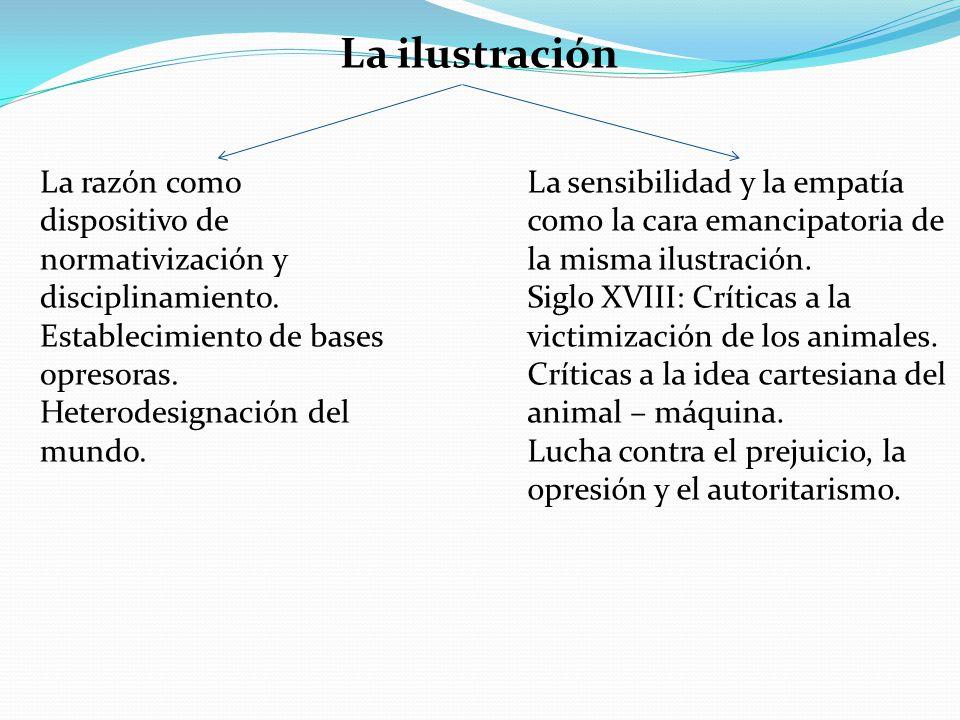 La ilustración La razón como dispositivo de normativización y disciplinamiento. Establecimiento de bases opresoras. Heterodesignación del mundo. La se