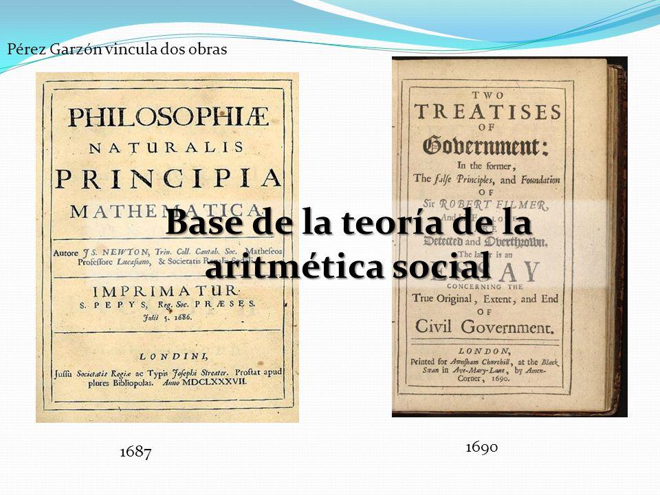 Pérez Garzón vincula dos obras 1687 1690 Base de la teoría de la aritmética social