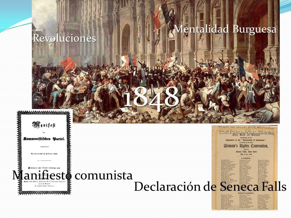 1848 Revoluciones Mentalidad Burguesa Declaración de Seneca Falls Manifiesto comunista