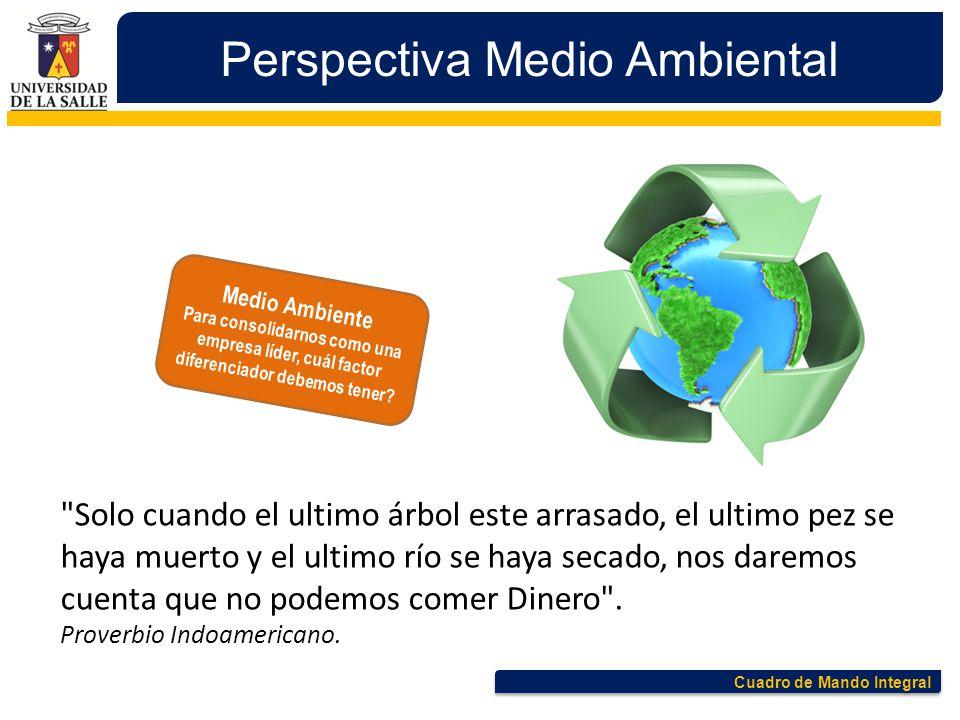 Cuadro de Mando Integral Perspectiva Medio Ambiental