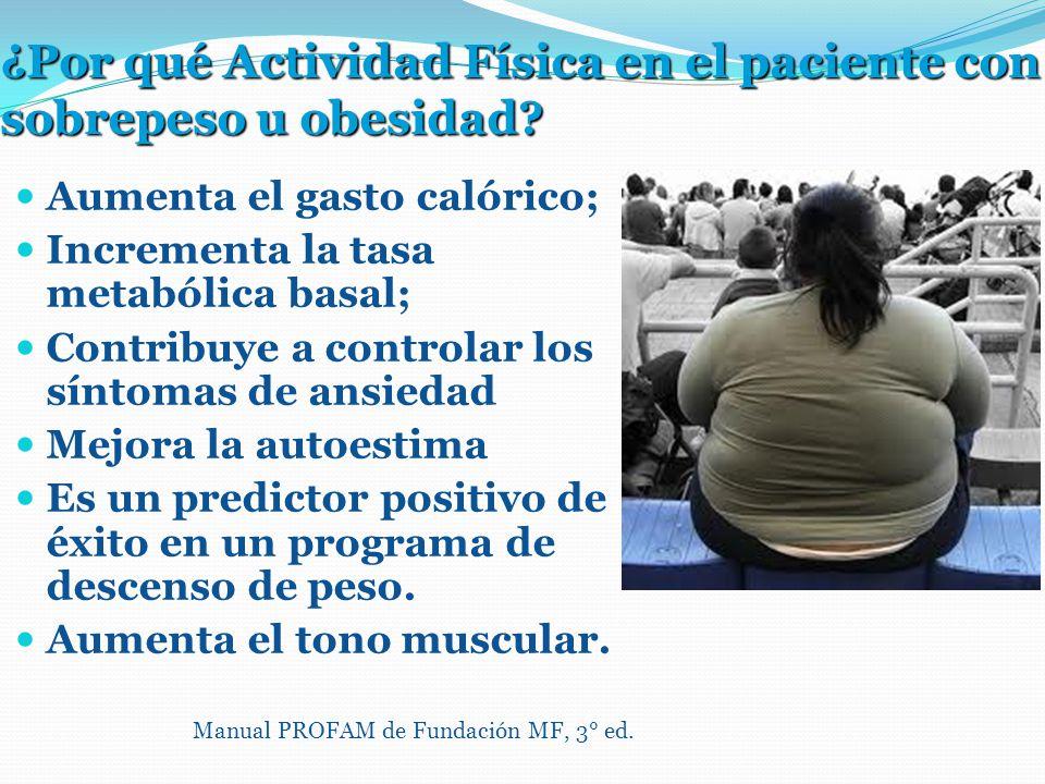 ¿Por qué Actividad Física en el paciente con sobrepeso u obesidad.