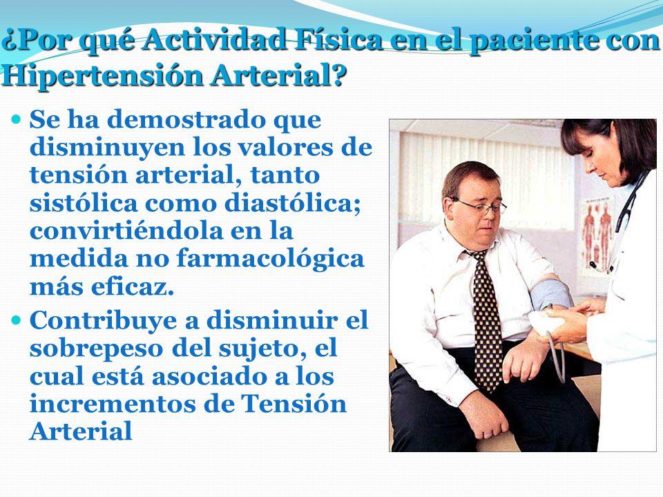 ¿Por qué Actividad Física en el paciente con Hipertensión Arterial.