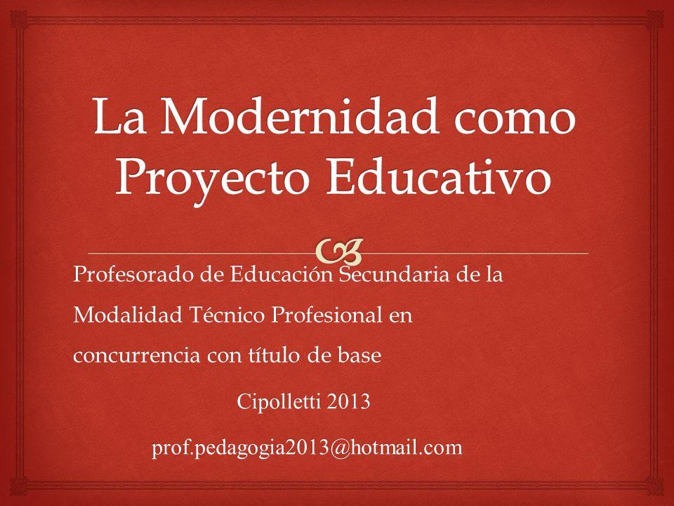 Profesorado de Educación Secundaria de la Modalidad Técnico Profesional en concurrencia con título de base Cipolletti 2013 prof.pedagogia2013@hotmail.