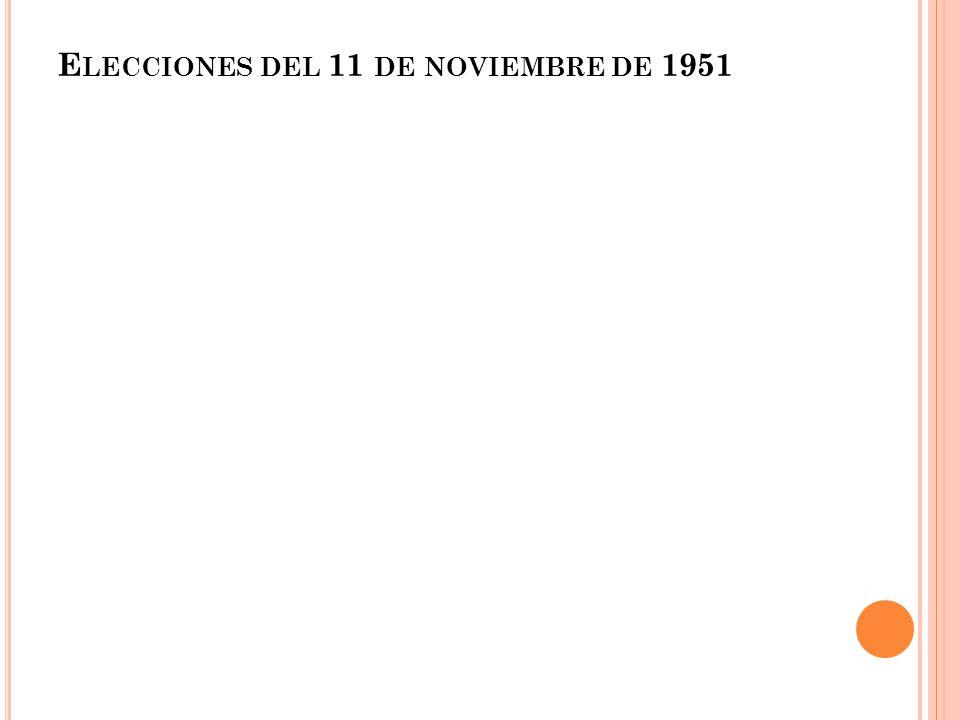 E LECCIONES DEL 11 DE NOVIEMBRE DE 1951