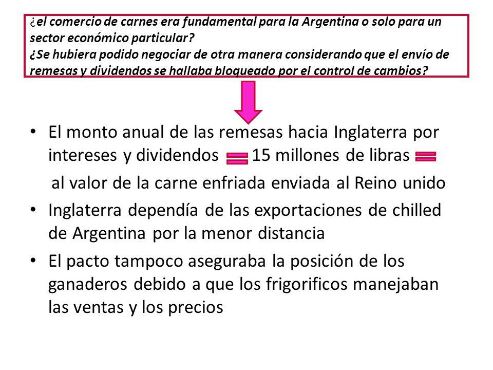 ¿el comercio de carnes era fundamental para la Argentina o solo para un sector económico particular? ¿Se hubiera podido negociar de otra manera consid