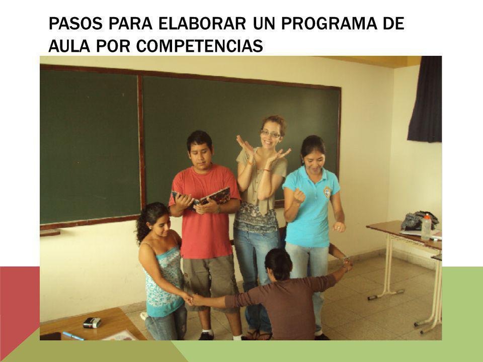 PASOS PARA ELABORAR UN PROGRAMA DE AULA POR COMPETENCIAS