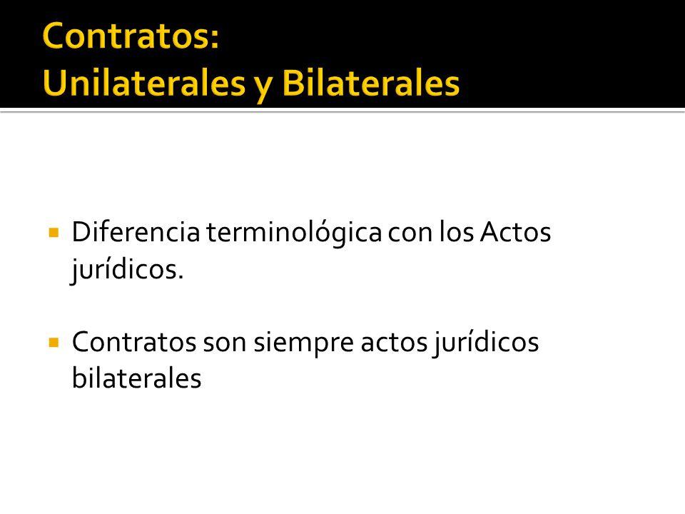 Art.1138 del CC: Los contratos se denominan en este Código unilaterales, o bilaterales.