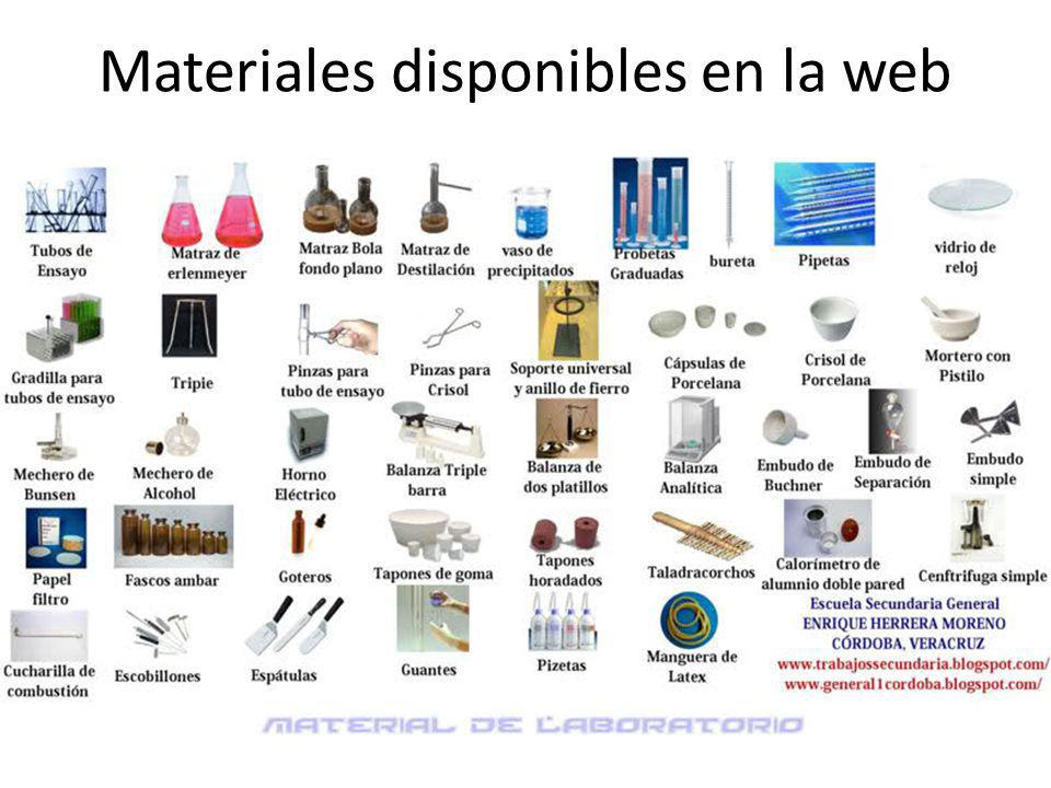 Materiales disponibles en la web