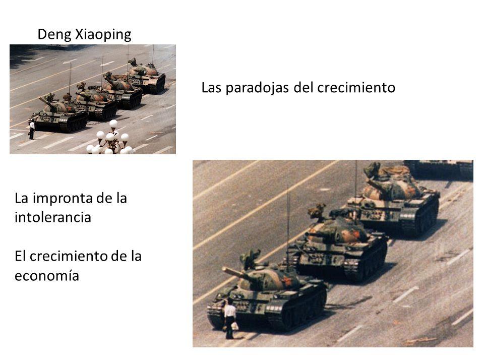 Deng Xiaoping Las paradojas del crecimiento La impronta de la intolerancia El crecimiento de la economía