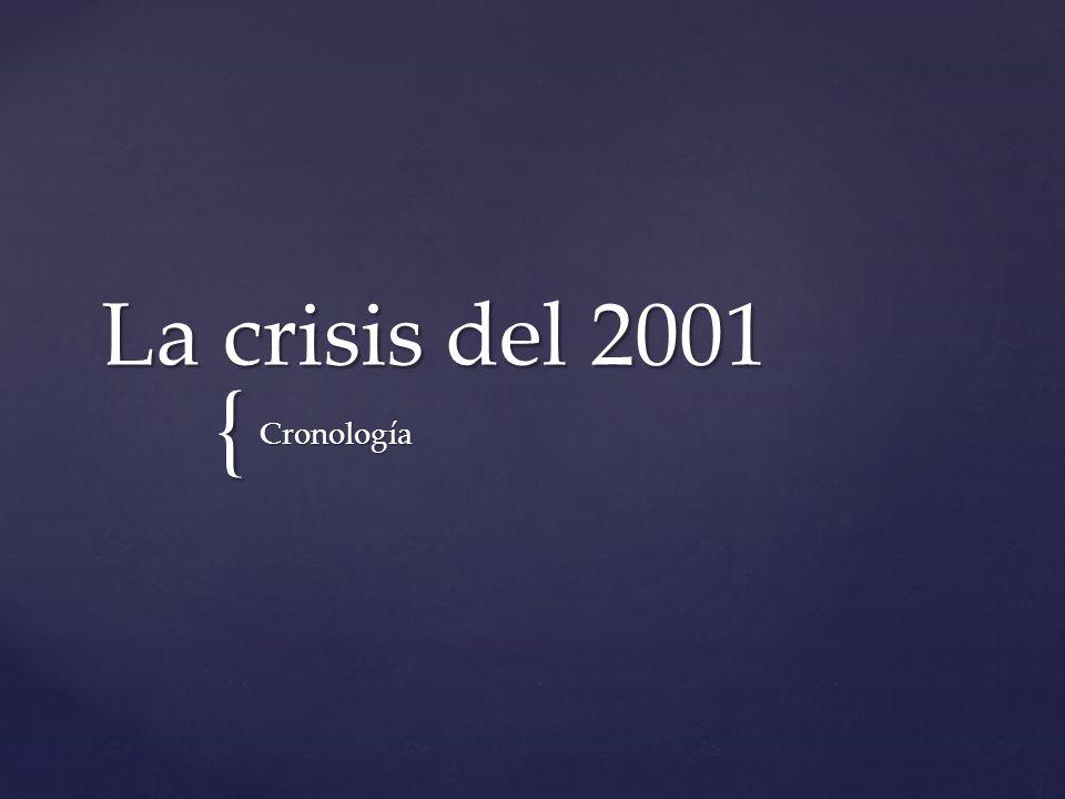 La crisis de diciembre de 2001 en Argentina fue una crisis financiera y política generada por la restricción a la extracción de dinero en efectivo de plazos fijos, cuentas corrientes y cajas de ahorro denominada Corralito, que causaron la renuncia a la presidencia de Fernando de la Rúa el 20 de diciembre de 2001, y llevaron a una situación de acefalía presidencial.