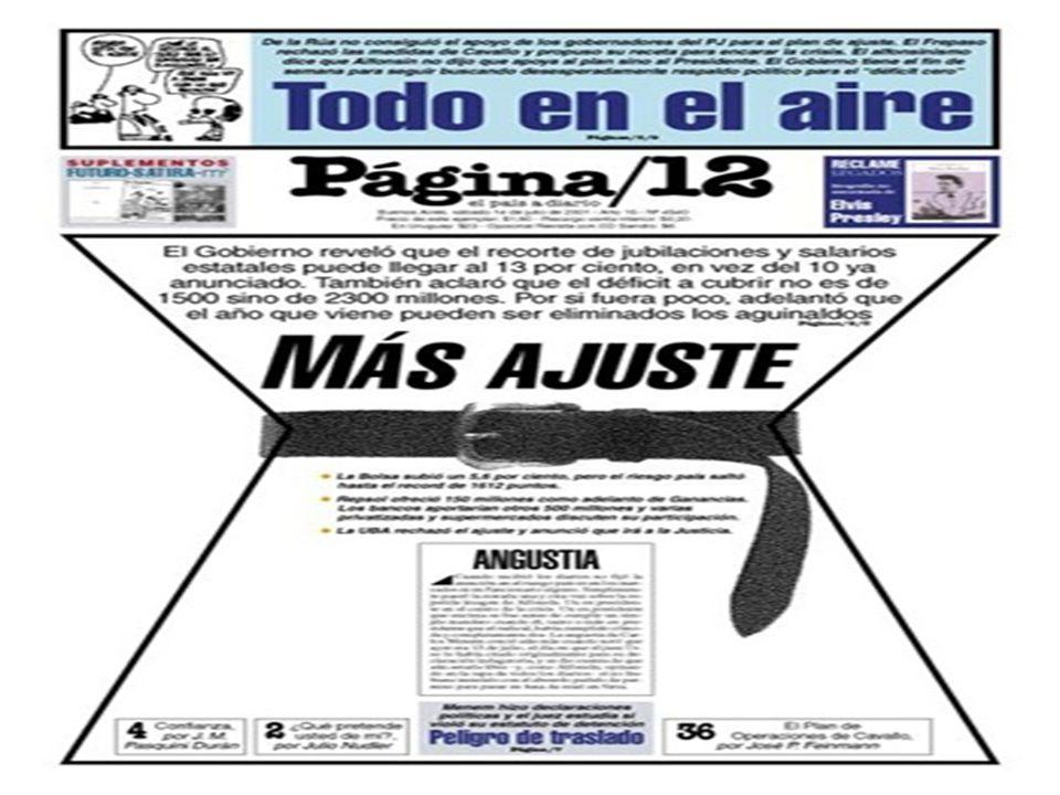 5 de diciembre: El FMI decide no conceder un préstamo de 1.260 millones de dólares ante la falta de cumplimiento de las metas fiscales de Argentina.