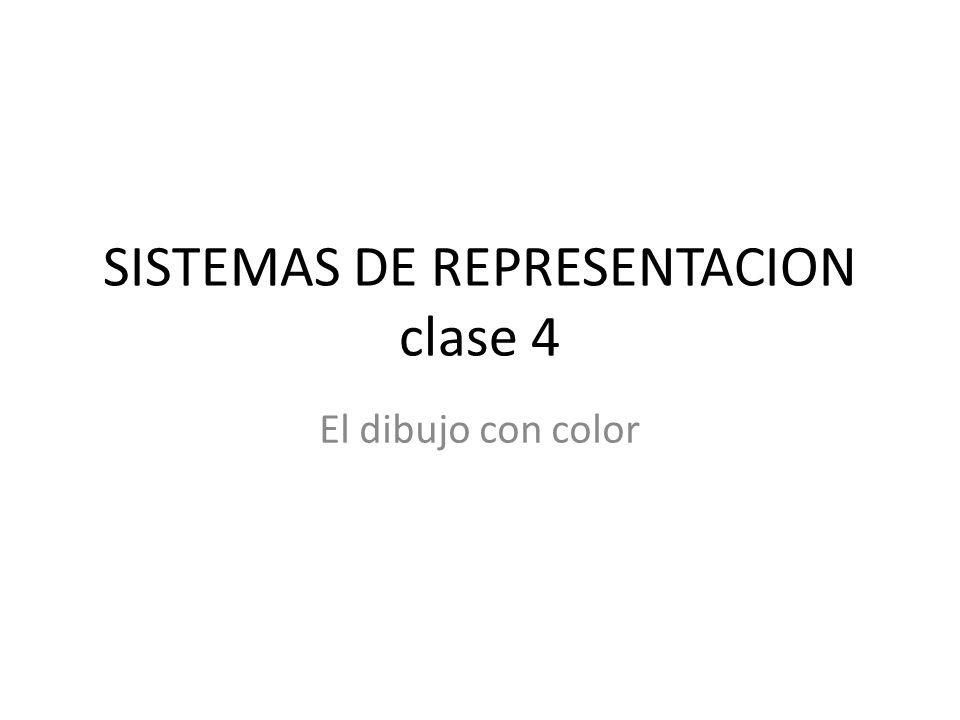 SISTEMAS DE REPRESENTACION clase 4 El dibujo con color