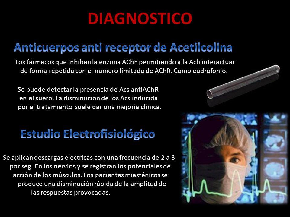 DIAGNOSTICO Se puede detectar la presencia de Acs antiAChR en el suero.