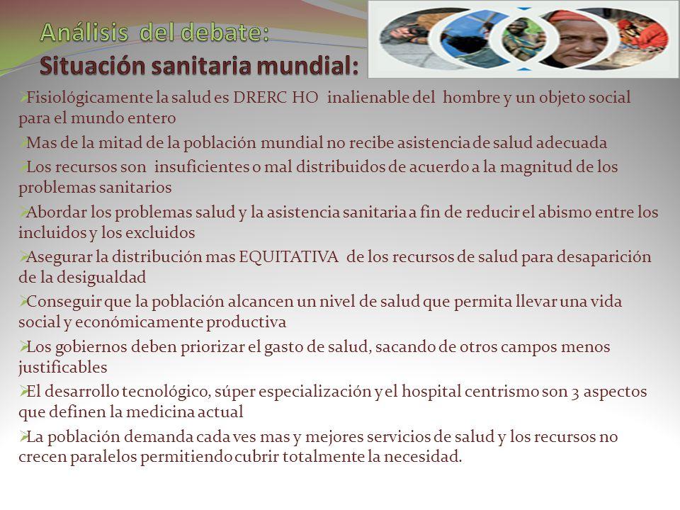 ES LA ASISTENCIA SANITARIA ESENCIAL BASADA EN METODOS Y TECNOLOGIAS PRACTICAS CIENTIFICAMENTE FUNDADA Y SOCIALMENTE ACEPTADA, PUESTA AL ALCANCE DE TODOS LOS INDIVIDUOS Y FAMILIA DE LA COMUNIDAD, MEDIANTE PLENA PARTICIPACION Y A UN COSTO QUE LA COMUNIDAD Y EL PAIS PUEDAN SOPORTAR EN TODAS Y CADA UNA DE LAS ETAPAS DE SU DESARROLLO, CON UN ESPIRITUD DE AUTORREWSPONZABILIDAD Y AUTODERTERMINACION REPRESENTA EL PRIMER CONTACTO DE LOS INDIVIDUOS, FAMILIA Y COMUNIDAD CON EL SISTEMA DE SALUD, LLEVANDO MAS CERCA POSIBLE LA ATENCION DE LA SALUD AL LUGAR DONDE RESIDEN Y TRABAJAN LAS PERSONAS Y CONSTITUYEN EL PRIMER ELEMENTO DE UN PROCESO PERMANENTE DE ASISTENCIA SANITARIA LA META ES SALUD PARA TODOS EN EL AÑO 2000