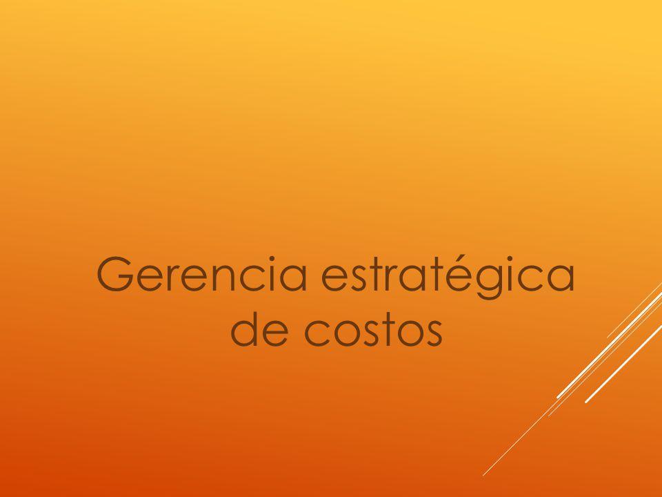 Gerencia estratégica de costos