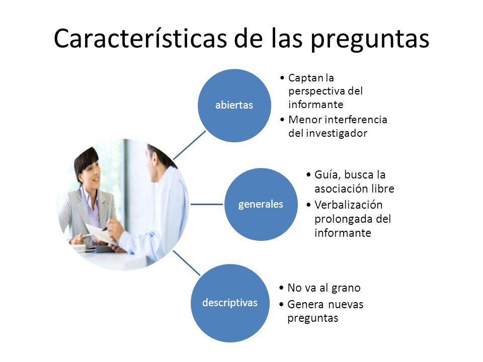 Categorización diferida (del investigador) Reconocer y aceptar el marco de referencia de entrevistado Reconstruir su lógica, descubrir los sentidos de las respuestas que se dan.