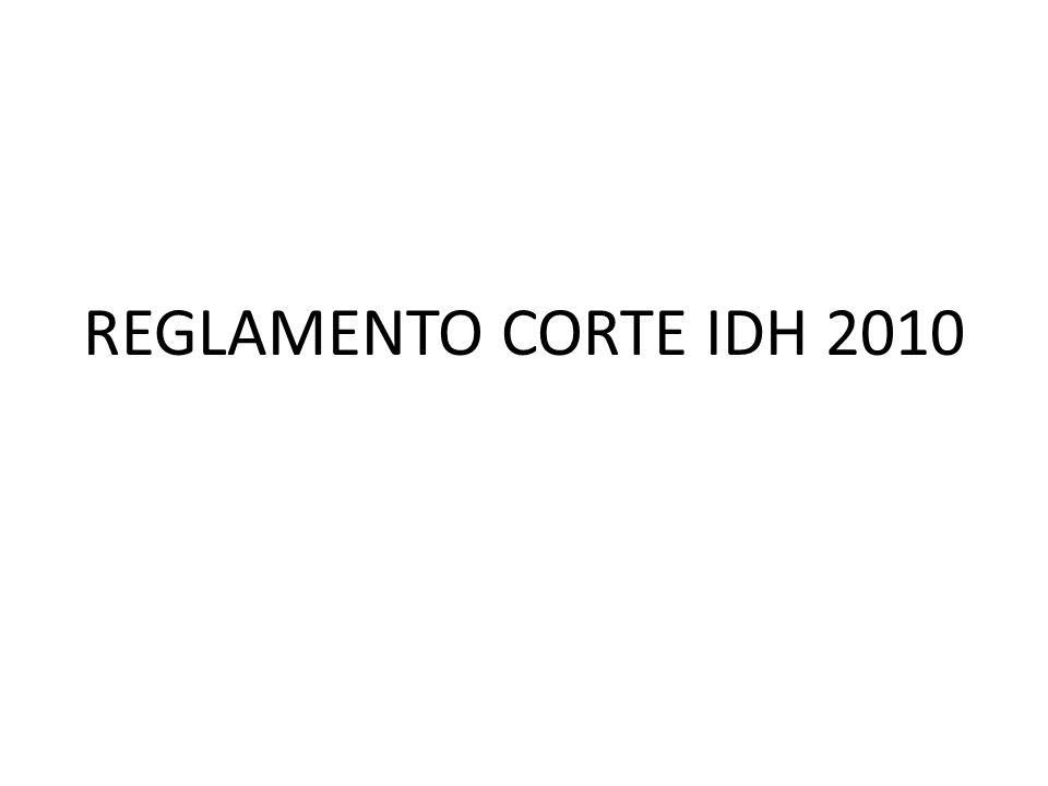 REGLAMENTO CORTE IDH 2010