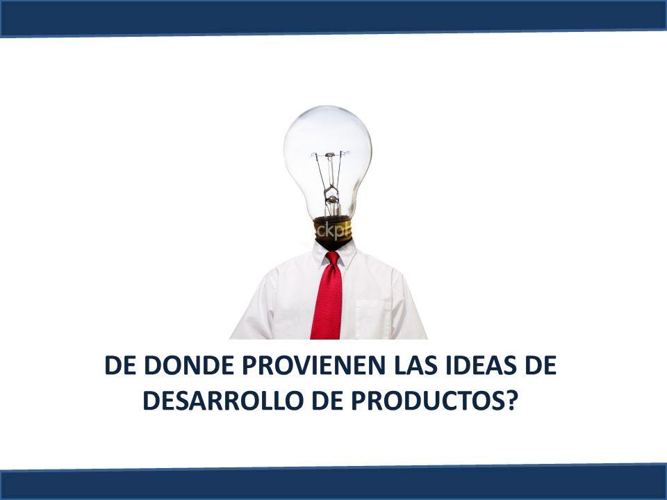 DE DONDE PROVIENEN LAS IDEAS DE DESARROLLO DE PRODUCTOS?