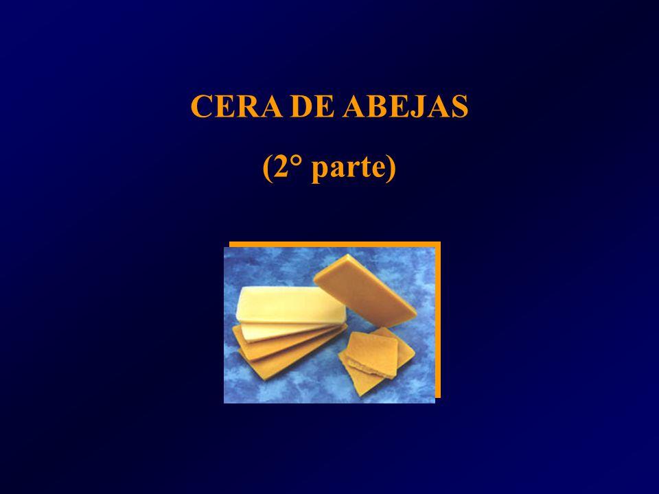 Ésteres alcalinos de ac.Grasos y céreos72% Colesterol, ésteres de ác grasos 0.8% Lactonas0,6% Ác.