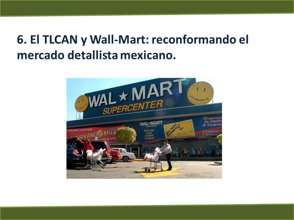 6. El TLCAN y Wall-Mart: reconformando el mercado detallista mexicano.