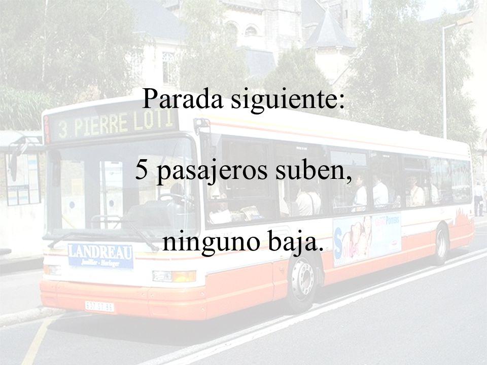 El autobus sigue el recorrido...