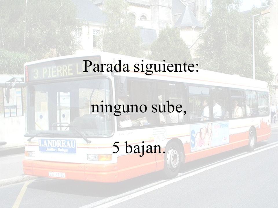 El autobus sigue su recorrido una vez más…