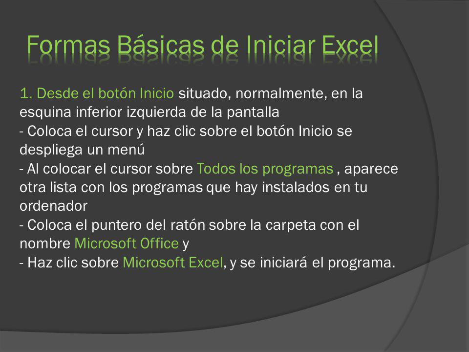 CELDA: Una celda en Excel es la intersección de una fila y una columna.