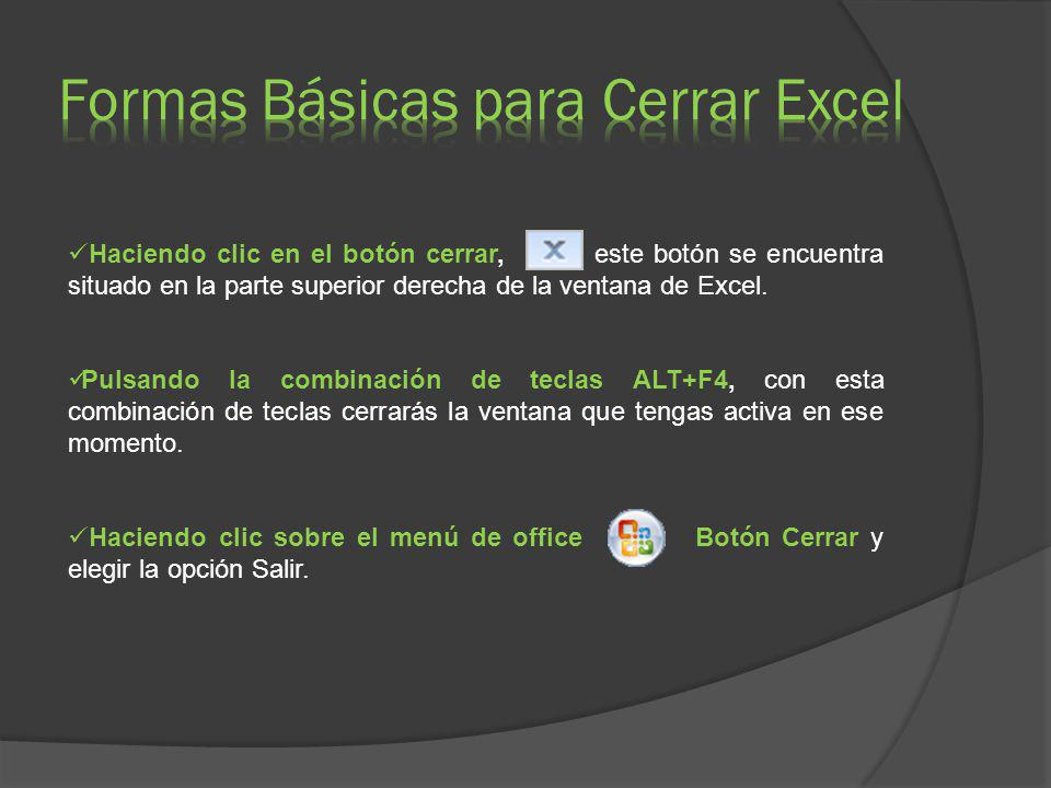 Al iniciar Excel aparece una pantalla inicial como ésta, vamos a ver sus componentes fundamentales, así conoceremos los nombres de los diferentes elementos y será más fácil entender.
