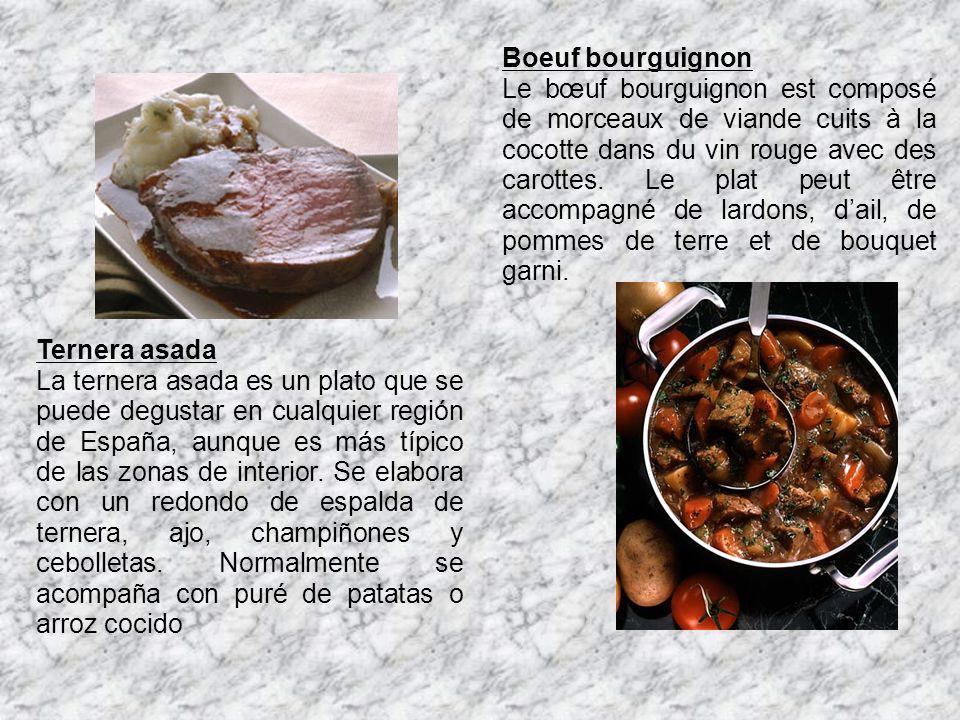 Ternera asada La ternera asada es un plato que se puede degustar en cualquier región de España, aunque es más típico de las zonas de interior. Se elab