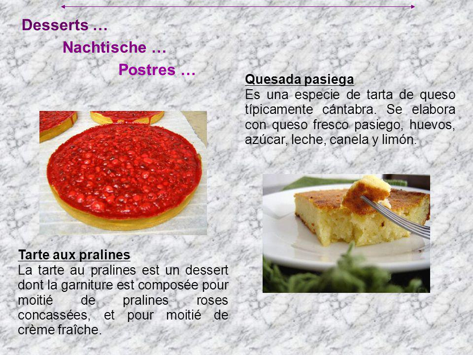 Desserts … Postres … Nachtische … Quesada pasiega Es una especie de tarta de queso típicamente cántabra. Se elabora con queso fresco pasiego, huevos,